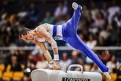 November 2, 2018 - Doha, Qatar - Cyril Tommasone of France   during  Pommel Horse for Men at the Aspire Dome in Doha, Qatar, Artistic FIG Gymnastics World Championships on 2 of November 2018. (Credit Image: © Ulrik Pedersen/NurPhoto via ZUMA Press)