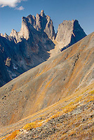 Peaks of the Tombstone Range from Glissade Pass, Tombstone Territorial Park Yukon Canada