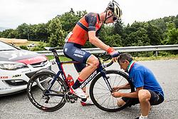 David Per (SLO) of Bahrain-Merida during Stage 2 of 24th Tour of Slovenia 2017 / Tour de Slovenie from Ljubljana to Ljubljana (169,9 km) cycling race on June 16, 2017 in Slovenia. Photo by Vid Ponikvar / Sportida
