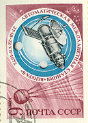 RUSSIA - CIRCA 1972: stamp printed by Russia, shows space satellite, circa 1972