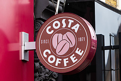 The Costa Coffee branch in Earls Court, west London, where son of celebrity chef and Dad-to-be Marco Pierre White Junior was arrested in May this year for allegedly being found in possession of heroin, and will appear before magistrates at Westminster Magistrates court on Monday July 29th 2019. London, July 28 2019.