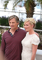 Viggo Mortensen, Kirsten Dunst,  at the On The Road photocall at the 65th Cannes Film Festival France. The film is based on the book of the same name by beat writer Jack Kerouak and directed by Walter Salles. Wednesday 23rd May 2012 in Cannes Film Festival, France.