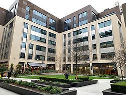 © Licensed to London News Pictures. 07/03/2020. London, UK. The offices of Facebook in London which are closed to be deep cleaned after an employee who visited from Singapore was diagnosed with COVID-19 strain of Coronavirus. Photo credit: Ben Cawthra/LNP