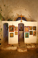 Interior of Saint Nikolaos Church, Paliachora,  Aegina, Greek Saronic Islands .<br /> <br /> If you prefer to buy from our ALAMY PHOTO LIBRARY  Collection visit : https://www.alamy.com/portfolio/paul-williams-funkystock/aegina-greece.html <br /> <br /> Visit our GREECE PHOTO COLLECTIONS for more photos to download or buy as wall art prints https://funkystock.photoshelter.com/gallery-collection/Pictures-Images-of-Greece-Photos-of-Greek-Historic-Landmark-Sites/C0000w6e8OkknEb8