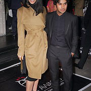 London,England,UK : 8th April 2016 : Kunal Nayyar and a ladies guest attend the The Asian Awards 2016 at Grosvenor House Hotel, Park Lane, London. Photo by See Li