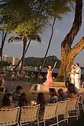 Sunset at Halekulani, Waikiki, Oahu, Hawaii