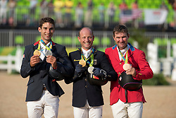 Individual Podium, Nicolas Astier, FRA, Jung Michael, GER, Dutton Phillipe, USA<br /> Olympic Games Rio 2016<br /> © Hippo Foto - Dirk Caremans<br /> 09/08/16