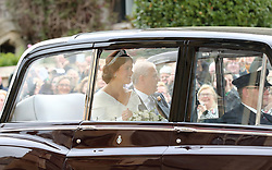 Princess Eugenie arrives ahead of her wedding to Jack Brooksbank at St George's Chapel in Windsor Castle.