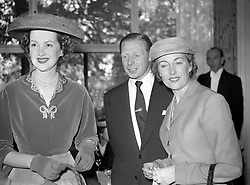 Raine, Countess of Dartmouth, left, Cyril Stapleton and singer Vera Lynn, right, at the Variety Club of Great Britain's Ladies Lunch, at the Savoy Hotel.