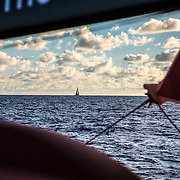 Leg 4, Melbourne to Hong Kong, day 10 on board MAPFRE,  gaining some miles with Turn the Tide. Photo by Ugo Fonolla/Volvo Ocean Race. 11 January, 2018.