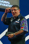 Gary Anderson gestures to the crowd during the World Darts Championships 2018 at Alexandra Palace, London, United Kingdom on 29 December 2018.