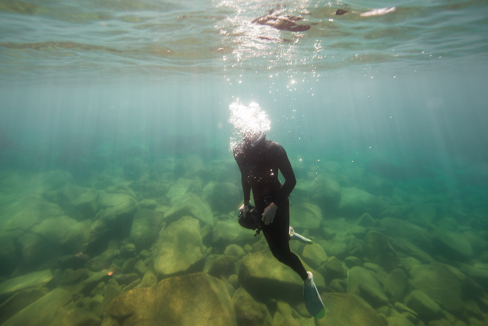Dylan Silver is a photographer and writer living in South Lake Tahoe.  He has been documenting seasonal changes to the water clarity of the lake, one of the most studied bodies of water in the world.  August 11, 2017.