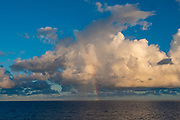 Ocean, cloud, rainbow, French Polynesia, South Pacific