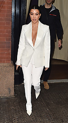 Kourtney Kardashian is seen leaving the Mercer hotel in New York and flashing off her bra! as she makes her way to a morning Tv show. 07 Feb 2019 Pictured: Kourtney Kardashian. Photo credit: Neil Warner/MEGA TheMegaAgency.com +1 888 505 6342