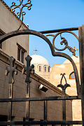 Early morning image of the Monastery and Church of St. George, Kom Ghorab, Old Cairo, Egypt, seen from near St. Serguis and St. Bacchus Church.