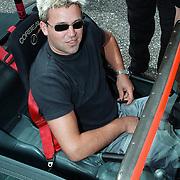 Start site Racetrack.nl Lelystad, Bennie de Haani in een Donkervoort racewagen