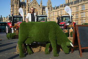Cat Smith at the National Farmers Union NFU took machinery, produce, farmers and staff to Westminster to encourage Members of Parliament to back British farming, post Brexit on 14th September 2016 in London, United Kingdom. MPs were encouraged to sign the NFU's pledge and wear a British wheat and wool pin badge to show their support.
