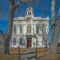 The Mono County Courthouse in Bridgeport, California, built in 1880, is still in service in this very rural county.