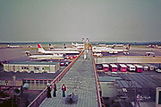 London Gatwick airport south terminal, British Airtours, British Caledonian planes, early 1970s