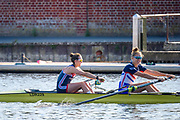 Henley-On-Thames, Berkshire, UK 3rd August 2020 Athletes, Crews boating from Leander Club for training,  [ Mandatory Credit © Peter Spurrier/Intersport Images],  Women's Pair, , Training during, the  coronavirus (COVID-19), pandemic,