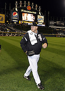 CHICAGO - SEPTEMBER 27:  Mark Buehrle #56 of the Chicago White Sox walks in from the bullpen prior to the game against the Toronto Blue Jays on September 27, 2011 at U.S. Cellular Field in Chicago, Illinois.  Buehrle's appearance could be his last in a White Sox uniform. The White Sox defeated the Blue Jays 2-1.  (Photo by Ron Vesely)   Subject: Mark Buehrle..