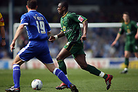 Norwich Citys Dickson Etuhu and Cardiffs Riccy Scimeca