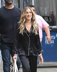 June 5 2018, New York City<br /> <br /> Actress Sarah Jessica Parker takes part in a film shoot in NoHo on June 5 2018 in New York City