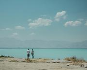 View over Van Lake, in Eastern Turkey.