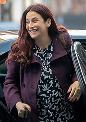 © Licensed to London News Pictures. 24/02/2019. London, UK. Former Labour MP Luciana Berger, who resigned from the party to join The Independent Group, arrives at BBC Broadcasting House to appear on The Andrew Marr Show. Photo credit: Rob Pinney/LNP