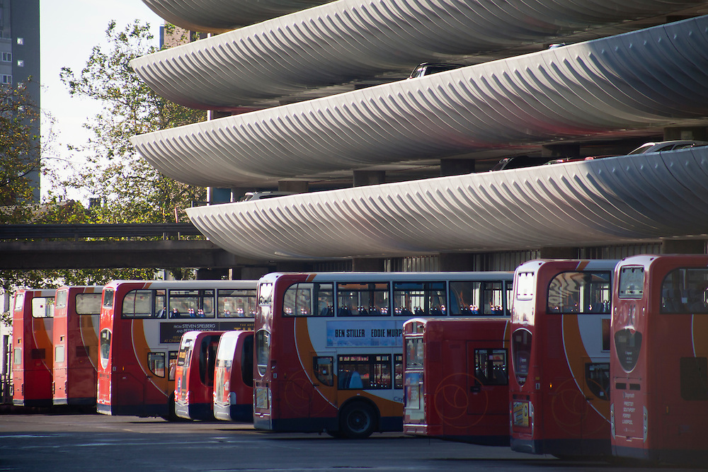 Preston Bus Station, Lancashire, UK. Opened in 1969