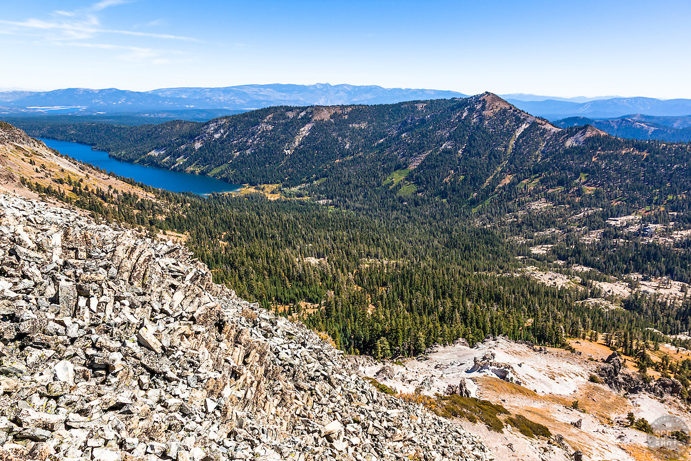 """""""Independence Lake, CA 3"""" - Photograph of Independence Lake, taken from above the lake."""