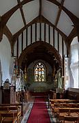 Interior village parish church of Saint Peter, Wenhaston church, Suffolk, England, UK