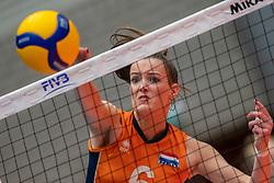 Marije ten Brinke of Netherlands in action during semi final Netherlands - Serbia, FIVB U20 Women's World Championship on July 17, 2021 in Rotterdam
