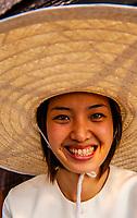 Thai woman, Four Seasons Resort Chiang Mai, Mae Rim district, near Chiang Mai, Northern Thailand
