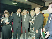 24/08/1984<br /> 08/24/1984<br /> 24 August 1984<br /> Opening of ROSC '84 at the Guinness Store House, Dublin. At the exhibition were: Lord Iveagh; Mr Pat Murphy ROSC Chairman; Mrs Maeve Hillery; President Patrick Hillery and Minister of State for Arts and Culture Ted Nealon.
