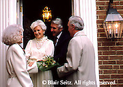 Active Aging Senior Citizens, Retired, Activities, Hostess Welcomes Dinner Guests, Elderly Socialize,