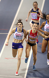Great Britain's Mari Smith during the Women's 800m 1st semi final during day two of the European Indoor Athletics Championships at the Emirates Arena, Glasgow.