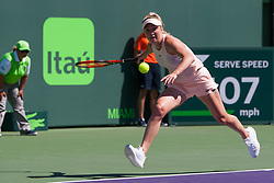 March 23, 2018 - Key Biscayne, FL, U.S. - KEY BISCAYNE, FL - MARCH 23: Elina Svitolina (UKR) in action on Day 5 of the Miami Open Presented at Crandon Park Tennis Center on March 23, 2018, in Key Biscayne, FL. (Photo by Aaron Gilbert/Icon Sportswire) (Credit Image: © Aaron Gilbert/Icon SMI via ZUMA Press)