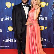 NLD/Amsterdams/20190326 - Filmpremiere Dumbo, zwangere Kimberly Klaver en partner Michel van den Bergh
