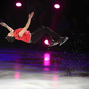 U.S. Champion Ryan Bradley performs a backflip during the Stars on Ice Figure Skating tour stop at the Amway Center on Sunday, April 6, 2014 in Orlando, Florida. (AP Photo/Alex Menendez)