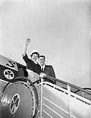 1960 - Mr. and Mrs. Downey arriving at Dublin Airport