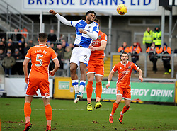 Ellis Harrison of Bristol Rovers wins a header - Mandatory by-line: Neil Brookman/JMP - 03/02/2018 - FOOTBALL - Memorial Stadium - Bristol, England - Bristol Rovers v Shrewsbury Town - Sky Bet League One