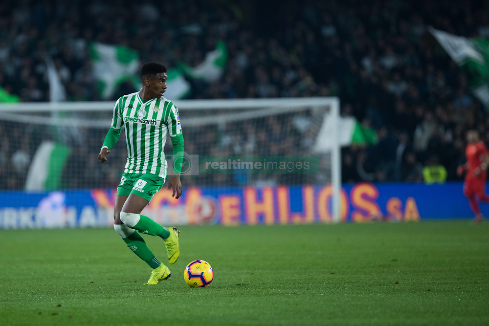 December 9, 2018 - Seville, Andalucía, Spain - Junior, Real Betis, during the LaLiga match between Real Betis and Rayo in Benito Villamarín Stadium (Seville) (Credit Image: © Javier MontañO/Pacific Press via ZUMA Wire)