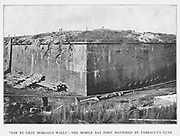 Fort Morgan at Mobile Bay, BATTERED BY FARRAGUT'S GUNS from the book ' The Civil war through the camera ' hundreds of vivid photographs actually taken in Civil war times, sixteen reproductions in color of famous war paintings. The new text history by Henry W. Elson. A. complete illustrated history of the Civil war