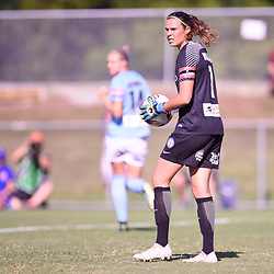 BRISBANE, AUSTRALIA - FEBRUARY 11: Lydia Williams of Melbourne in action during the Westfield W-League Semi Final match between the Brisbane Roar and Melbourne City at Perry Park on February 11, 2018 in Brisbane, Australia. (Photo by Patrick Kearney / Brisbane Roar)