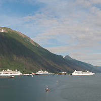 With my recent travels to Juneau I have been asked what is it like. Well I think this image pretty much sums up an early August afternoon in Juneau. It was a full afternoon of cruise ships, and the float planes were coming back from excursions during the day. Yes it does rain in Juneau, but you also get great days like this to enjoy the Juneau and the surrounding area.