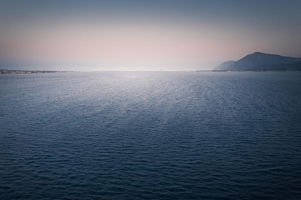 Charilaos Trikoupis Bridge (Rion-Antirion Bridge) throght the Gulf of Corinth, Greece