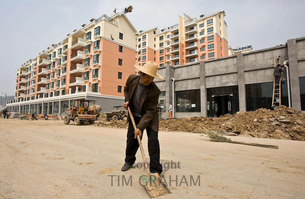 Western-style modern apartment blocks development in Yichang, China