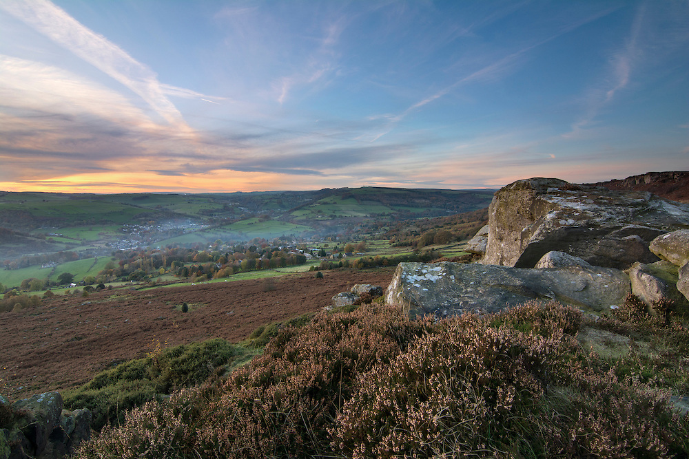 View from Baslow Edge,Peak District.