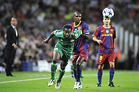 FOOTBALL - CHAMPIONS LEAGUE 2010/2011 - GROUP STAGE - GROUP D - FC BARCELONA v PANATHINAIKOS - 14/09/2010 - PHOTO JEAN MARIE HERVIO / DPPI - SIDNEY GOVOU (PAN) / ERIC ABIDAL (FCB)